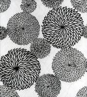 Chrysanthemums, a stencil for printing on cotton