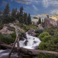 mountain stream Art Prints & Posters by Brad McGinley