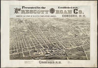 Vintage Pictorial Map of Concord NH (1875)