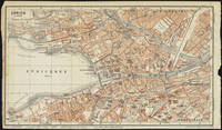 Vintage Map of Zurich Switzerland (1913)