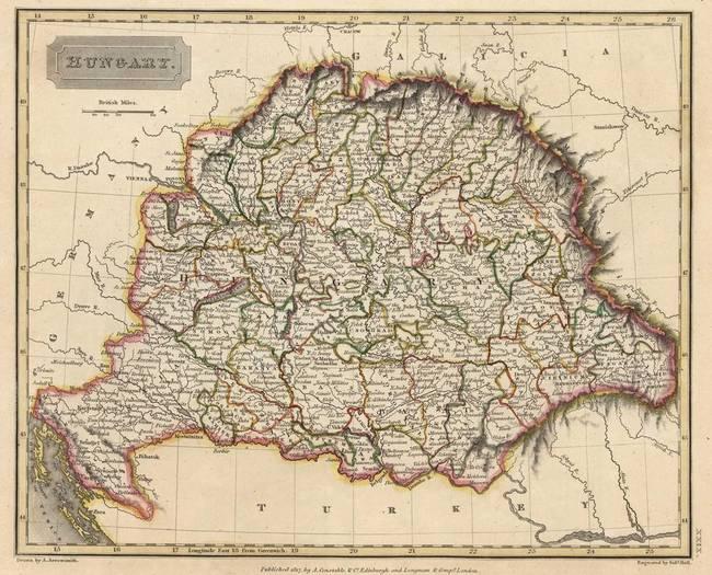 Stunning Hungary Map Artwork For Sale On Fine Art Prints - Hungary map