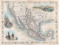 Vintage Map of Mexico (1851)
