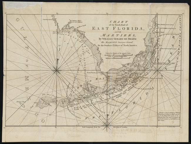 Vintage Map Of The Florida Keys 1771 By Alleycatshirts