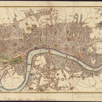 """Vintage Map of London England (1807)"" by Alleycatshirts"