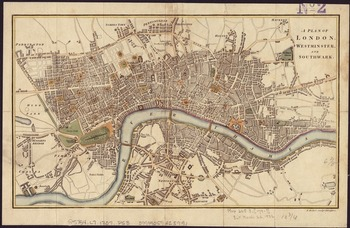Map Of England Vintage.Vintage Map Of London England 1807 By Vintage Map Store