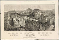 Vintage Pictorial Map of Edinburgh Scotland (1886)