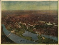 Vintage Pictorial Map of Washington D.C. (1916)