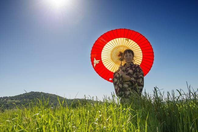 Kimono and Umbrella
