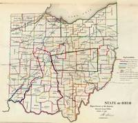 Vintage Map of Ohio (1866)