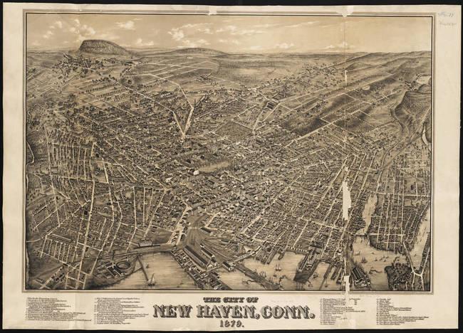 Connecticut Antique Vintage Pictorial Map