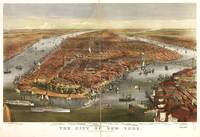 Vintage Pictorial Map of New York City (1870)