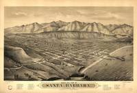 Vintage Pictorial Map of Santa Barbara CA (1877)