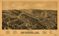 Vintage Map of Hot Springs Arkansas (1888)