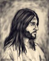 Charcoal Painting of Jesus