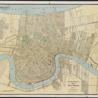 """Vintage Map of New Orleans Louisiana (1919)"" by Alleycatshirts"
