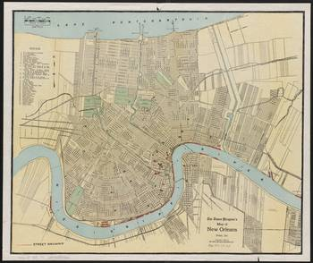 vintage new orleans map Vintage Map Of New Orleans Louisiana 1919 By Vintage Map Store vintage new orleans map