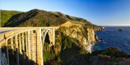 View of Big Sur Coast at the Bixby Creek Bridge