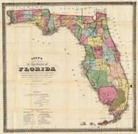 Vintage Map of Florida (1870)