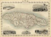 Vintage Map of Jamaica (1851)