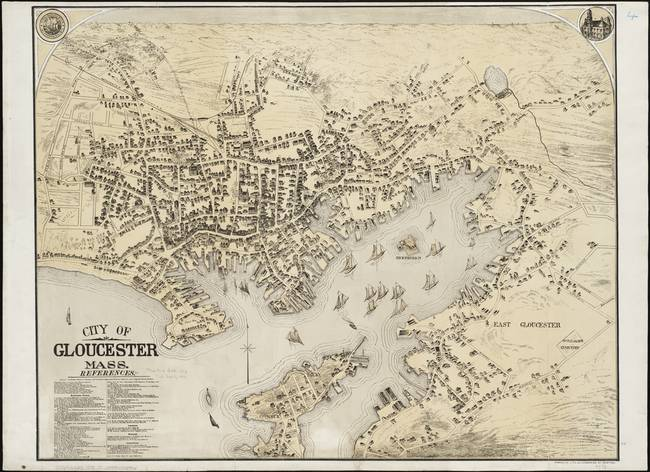 Map Of Gloucester Ma Vintage Map of Gloucester MA (1873) by Alleycatshirts @Zazzle Map Of Gloucester Ma