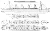 Inquiry into the Loss of the Titanic: Cross secti