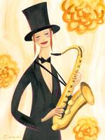 Dahlia - A Woman with Saxophone