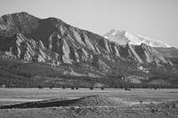 Colorado Rocky Mountains Flatirons with Snow Cover
