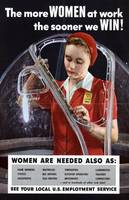 World War II 1939-1945. The more women at work the