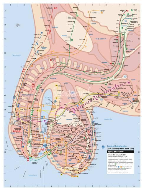 New York Penis Subway Map By Veit Schuetz