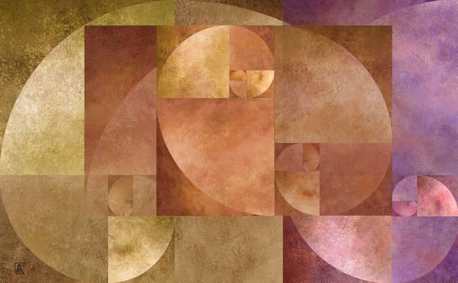 Stunning golden ratio mixed media artwork for sale on for Golden ratio artwork