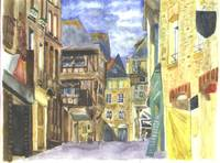 Dinan Medieval Town Brittany