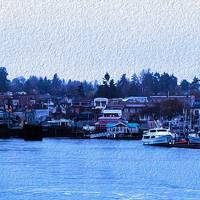Friday Harbor Panorama by John Tribolet