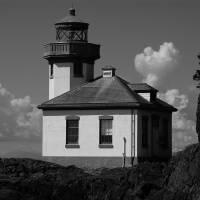 Lime Kiln Lighthouse - BW by John Tribolet