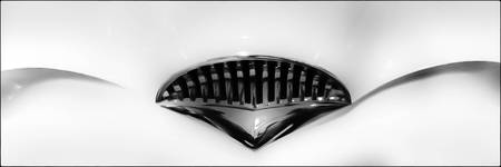 Grill of a Kaiser, a really cool car