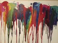Colorful Acrylic Drip Painting