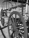 Black and White Photography - Oregon Trail Wagon