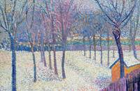 The Orchard under the Snow (oil on canvas)