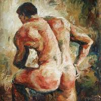 """""""NUDE MALE BACK-series-02"""" by southeyarts"""