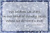 Cloudy blue Sky Star haiku