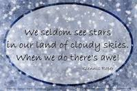 Cloudy blue Sky Star haiku, oval