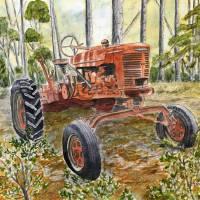 """farm tractor painting"" by derekmccrea"