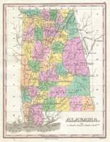 Vintage Map of Alabama (1827)