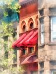 Red Awnings on Brownstone Hoboken NJ
