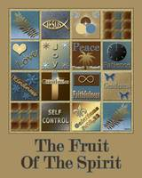 Fruit Of The Spirit Poster Blue/Brown