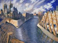 Notre Dame Cathedral, Paris, 1986 (oil on canvas)