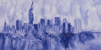 NYC, 2007 (oil on board)