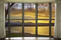 Golden Spring Twin Peaks Sunset Bay Window View