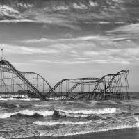 """Seaside Heights - Jet Star Roller Coaster in Ocean"" by JimNesterwitz"