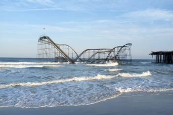 Seaside Heights Jet Star Roller Coaster In Ocean By Jim