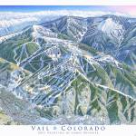 """Vail Mountain"" by jamesniehuesmaps"